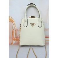 PRADA Women Handbag Bottle Package Diamond Bottle Cap Women Satchel White