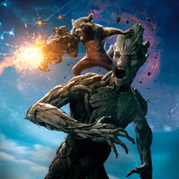 Guardians of the Galaxy (2014) UV Poster v009 27 X 40 Textless