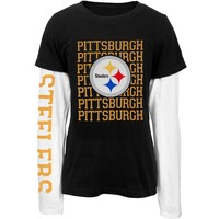 Pittsburgh Steelers - Team And Logo Youth 2Fer - Youth 8/10