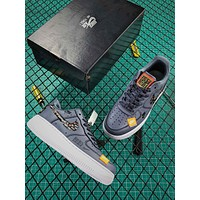 Just Do It Nike Air Force 1 Low Af1 Grey Sport Shoes