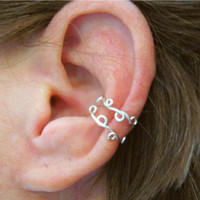 """No Piercing """"Conch Vine"""" Ear Cuff Handmade 1 Cuff Lots of Color Choices"""