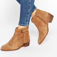 New Look Suede Ankle Boots With Tassel Detail