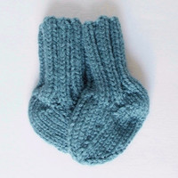 Newborn Baby Socks, 0 to 3 Months, Hand Knit Infant Baby Boy Clothes, Ready To Ship, Baby Girl Clothing, Baby Shower Gift, Warm Winter Wear
