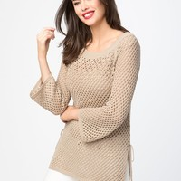 Loose Knit Pearl Sweater