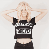 WHATEVER FOREVER Baby Tee