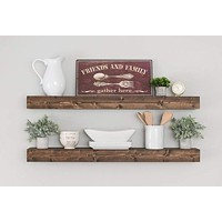 Floating Shelf, Rustic Shelf, Ledge Shelf, Open Shelving, Nursery Shelf, Floating Shelves, Farmhouse Shelving