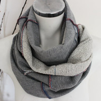 Men's scarves, Grey scarves, Cotton Men Scarf, Handmade  Men's Scarf, Unique Christmas Gifts, Design scarves, Winter scarf Unisex