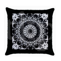 Mandala #Pillow #Art #B&W #Monochromatic #Mandala #Home #Decor #Throw  #Yoga #Boho #Hippie