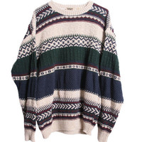 Vintage Tribal Print Tumblr Oversize Sweater
