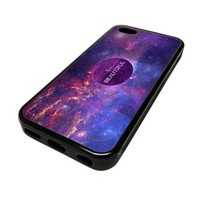For Apple iPhone 5C 5 C Case Cover Skin Hipster Life Is Beautiful Nebula Galaxy Love City Travel Quotes Teen DESIGN BLACK RUBBER SILICONE Teen Gift Vintage Hipster Fashion Design Art Print Cell Phone Accessories