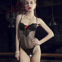 On Sale Cute Hot Deal Uniform Spaghetti Strap Underwear Sexy Cup Exotic Lingerie [6596065923]