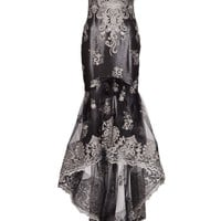 Marchesa Embroidered Tulle Skirt Gown