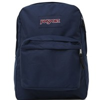 JanSport Super Break School Backpack - Womens Backpack - Blue - One