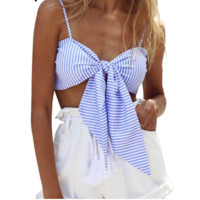 Striped Bow Tied Cami