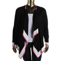 Charter Club Womens Plus Knit Open Front Cardigan Sweater