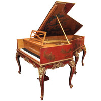 Antique French Pleyel Piano with Exceptional Lacquer Case circa 1890-1910