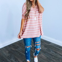 Better With You Top: Blush/White