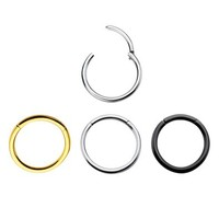 Hinged Segment Ring 16g & 14g Cartilage, Nose Lips and Nipple Septum Ring Hinged Titanium Ip 316l Surgical Steel Segment Ring