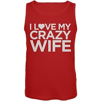 I Love My Crazy Wife Red Mens Tank Top