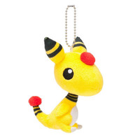 Pokemon Center Original Pokemon Petit Ampharos Plush Mascot Key Chain