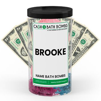 BROOKE Name Cash Bath Bomb Tube