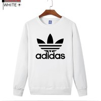 AdIdas Fashion Casual long sleeve loose sweater Thick Grey G-A-GHSY-1