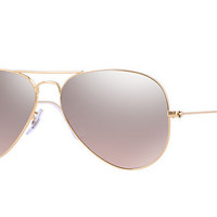Ray Ban Aviator Sunglass Gold Brown Pink Silver Mirrored RB 3025 001/3E
