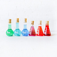 Colorful Science Beaker with Raw Quartz Glitter