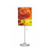 Flowers, Light, Yellow, Red, Joy - Drum Shade Table Lamp - Office, House, Dorm, Guest Room, Nursery, Childrens Room - Made to Order - J#77