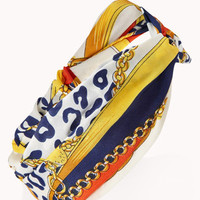 Knotted Scarf Print Headwrap
