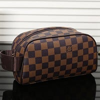 Louis Vuitton LV Women Fashion Shopping Cosmetic Bag Leather Handbag Satchel
