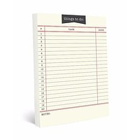 Bibliophile Library Card Large Notepad | 150 Pages | Retro Book Lover Gift