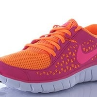 Nike Free Run+ Womens Running Shoes Tennis Shoes (8.5, Bright Ctrs/Pink)