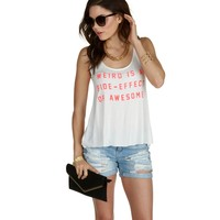 Sale-white Awesome Side-effect Tank