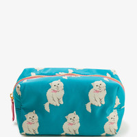 Cat Print Cosmetic Pouch