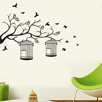 Decorative Wall Stickers - Animal Wall Stickers Landscape / Animals Living Room / Bedroom / Bathroom / Washable / Removable / Re-Positionable