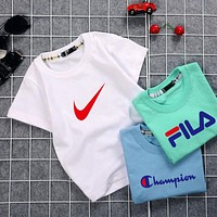 baby Girls Casual short Sleeve adidas nike Tops t Shirts for 4-13 Years