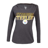Pittsburgh Steelers Showpiece Ladies Knit Hooded Top
