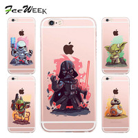 The Star Wars Case For Apple iPhone 6S Soft Shell Back Cover For iPhone 6 6S 7 Plus 6Plus 5 5S SE Darth Vader R2D2 Phone Cases