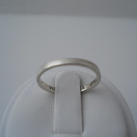 Sterling Silver 925 Small Band Ring Plain Stackable Size 6.5 Indonesia 925 Ring