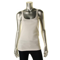 Polo Ralph Lauren Womens Ribbed Knit Scoop Neck Tank Top