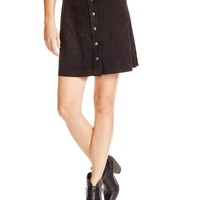 AQUAFaux Suede Snap-Front Skirt