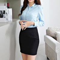 Women Chiffon Blouse And Shirt Women's Long Sleeved Solid Casual Tops Blouses Ladies OL Style Office Shirts Blusas