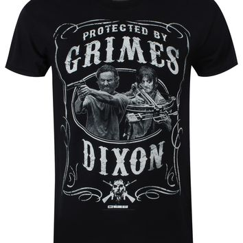 The Walking Dead Protected by Grimes and Dixon Men's Black T-Shirt