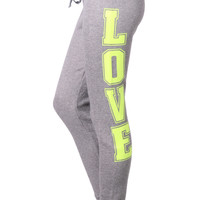 Womens Casual Full Length Sweatpants with Adjustable Waistband