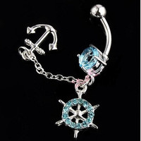 Nautical Belly Button Ring from Caitlin's Bowtique