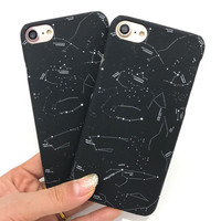 Lovely Cartoon Constellation Case For iphone 7 Case Fashion Beautiful Stars Sky Back Cover Hard Phone Cases For iphone7 7 Plus