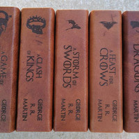 Leather Bound Game of Thrones Series: A Song of Fire and Ice- Complete set with custom images