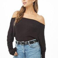 Off-the-Shoulder Dolman-Sleeve Top