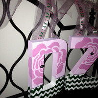 Delta Zeta Greek Sorority Wall Letters Decorative